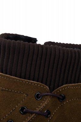 Brown Side Zip Work Boot für Männer Rutschfester Samt Reißverschluss Wollstiefel_6