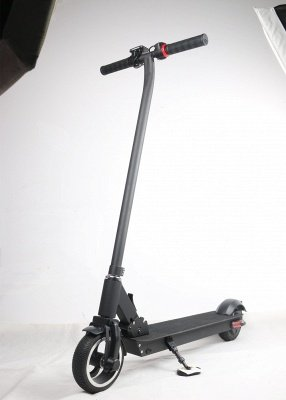 "Black Electric Scooter for Teens Kick-Start Sensor Kids Electric Scooter 6"" Wheels  Certified E Scooter"