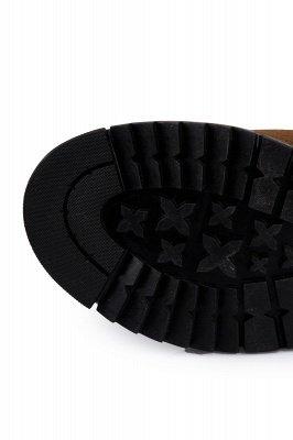 Brown Side Zip Work Boot für Männer Rutschfester Samt Reißverschluss Wollstiefel_5