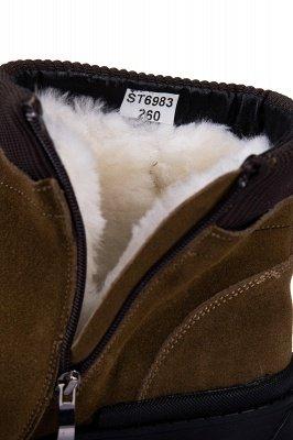 Brown Side Zip Work Boot für Männer Rutschfester Samt Reißverschluss Wollstiefel_8