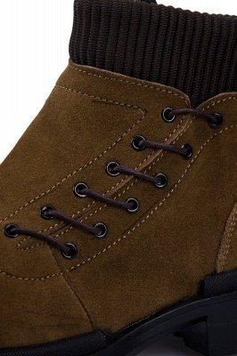 Brown Side Zip Work Boot für Männer Rutschfester Samt Reißverschluss Wollstiefel_4