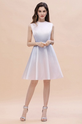 Gradient Elegant Mini Daily Wear Dress A-line Crew neck Sleveless Party Dress_6