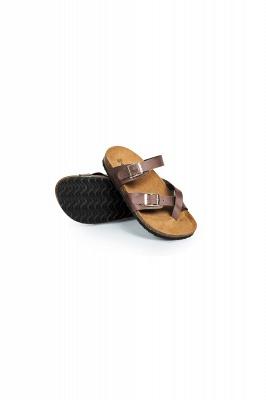 Women's Cork Slides Sandals Adjustable Double Buckle Flat Sandals for Women Slide_10