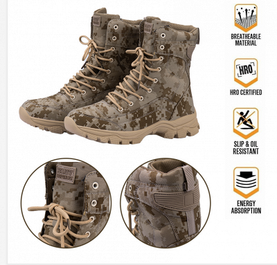 Ankle Combat Boots Waterproof Tactical Work Boot Lace Up Outdoor Boots_2