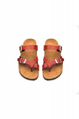 Women's Cork Slides Sandals Adjustable Double Buckle Flat Sandals for Women Slide_7
