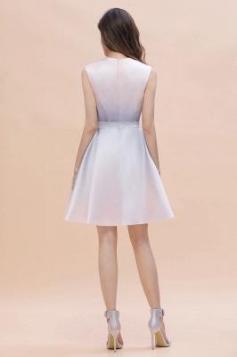 Gradient Elegant Mini Daily Wear Dress A-line Crew neck Sleveless Party Dress_8