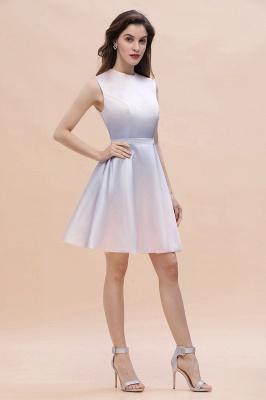 Gradient Elegant Mini Daily Wear Dress A-line Crew neck Sleveless Party Dress_5