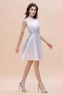 Gradient Elegant Mini Daily Wear Dress A-line Crew neck Sleveless Party Dress_3