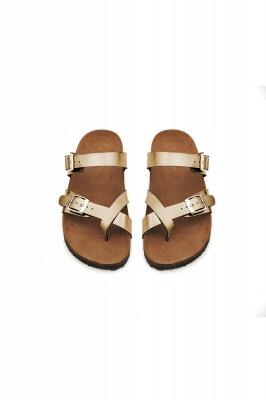 Women's Cork Slides Sandals Adjustable Double Buckle Flat Sandals for Women Slide_4