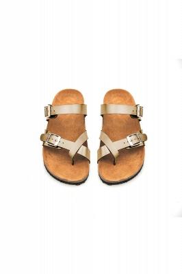 Women's Cork Slides Sandals Adjustable Double Buckle Flat Sandals for Women Slide_12