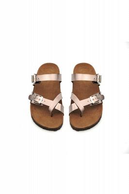 Women's Cork Slides Sandals Adjustable Double Buckle Flat Sandals for Women Slide_6