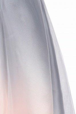Elegantes Abendkleid mit V-Ausschnitt und Farbverlauf A-Linie Tägliches kurzes Kleid_14