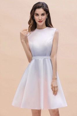 Gradient Elegant Mini Daily Wear Dress A-line Crew neck Sleveless Party Dress_4