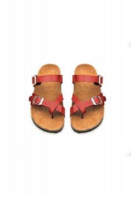 Damen Cork Slides Sandalen Verstellbare flache Sandalen mit Doppelschnalle für Damen Slide_7