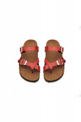 Damen Cork Slides Sandalen Verstellbare flache Sandalen mit Doppelschnalle für Damen Slide_2