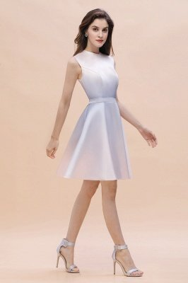 Gradient Elegant Mini Daily Wear Dress A-line Crew neck Sleveless Party Dress_3