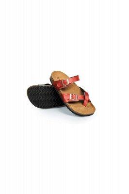 Damen Cork Slides Sandalen Verstellbare flache Sandalen mit Doppelschnalle für Damen Slide_3