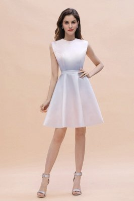 Gradient Elegant Mini Daily Wear Dress A-line Crew neck Sleveless Party Dress