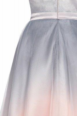 Elegantes Abendkleid mit V-Ausschnitt und Farbverlauf A-Linie Tägliches kurzes Kleid_13
