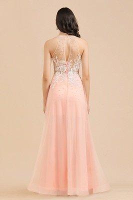 Elegant V-Neck Lace Appliques A-line Evening Maxi Dress Sleeveless_8