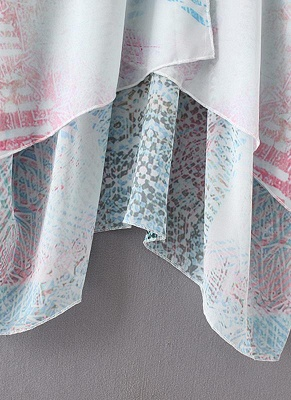 Women Chiffon Cardigan Gradient Print Kimono_10