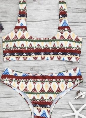Women Color Block Bikini Set Push Up Padded Swimsuit Swimwear Bathing Suit_2
