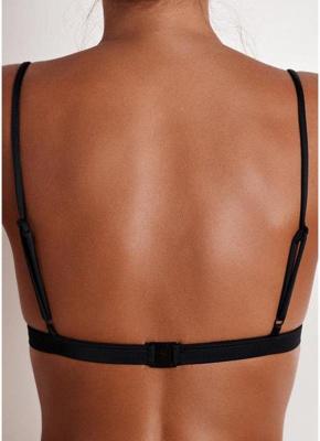 Bikinis Top Solid Swimsuit Bathing Suit Swim Halter Push Up Bikini Bra_3