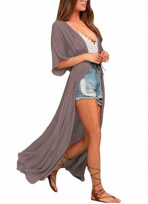 Women Beach Cover Up Lace Bandage Maxi Cardigan Tunic Sexy Bikini Swimsuit_5