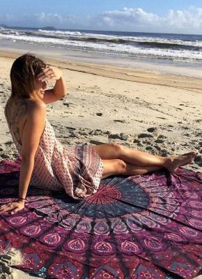 Round Beach Towel Bohemian Printed Tapestry Throw_1