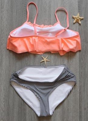 Women Sexy Bikini Set Ruffles High Waist Ruched Padded Wireless Two Piece Swimsuit Swimwear_5
