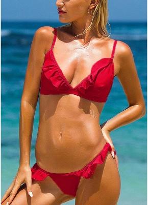 Frilly Ruffles Self-tie Backless Low Waist Bikini Set_2