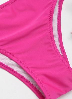 Ensemble de bikini Bandage rembourré à armatures et à pinces Color Block Backless_7