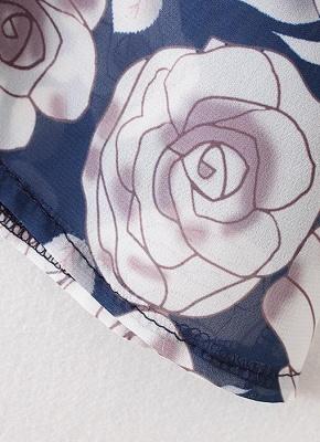 Cardigan en mousseline de soie d'été imprimé floral évider Kimono féminin_9