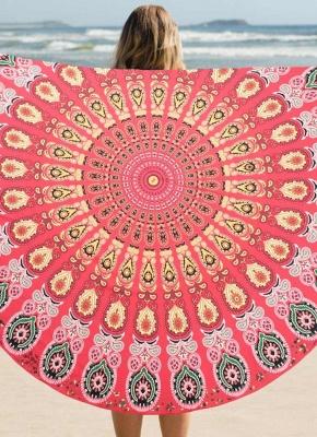 Round Beach Towel Bohemian Printed Tapestry Throw_2