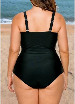 Femme Plus Size Maillot de bain une pièce Color Block Underwire rembourré Push Up_3