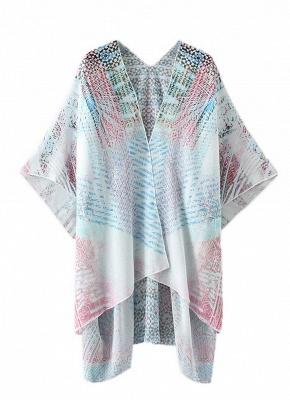 Women Chiffon Cardigan Gradient Print Kimono_4