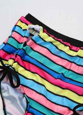 Stripe Halter Plus Size Swimsuit_4