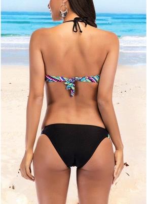 Women Strappy Print Bikini Set Backless Swimwear Swimsuit Beach Bathing Suit_3