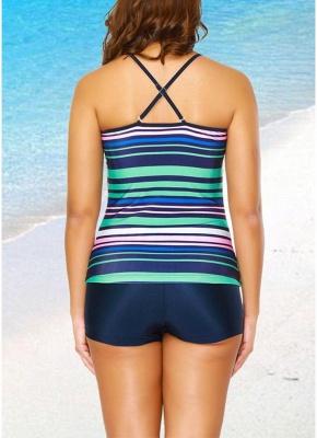 2xl Women Tankini Set Spaghetti Strap Sleeveless Bathing Suit Beach Swimwear_2
