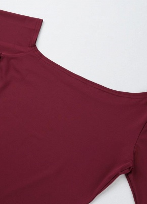 One Shoulder Long Sleeve Stretchy Bodysuit_7