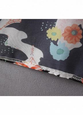 Bikini Cardigan en mousseline de soie d'été couvrez-vous imprimé Kimono Boho Long femmes_10