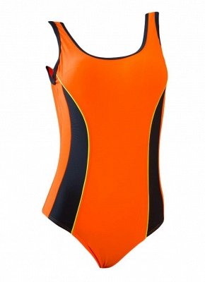 Women Professional Sports One Piece Swimsuit Swimwear Brazilian Bathing Suit Beachwear_1