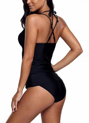 Women Bikini Set Swimsuit Push Up Swimwear Lace Trim Beach Wear Bathing Suit Plus Size Tankini Set_4