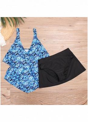 Women Plus Size Floral Sexy Bikini Set Swimsuit Skirt Brief Swimwear Bathing Suit_4