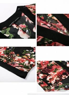Vintage Floral Print Long Bat Sleeves Chiffon Kimono Blouse_4