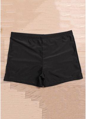 Women Plus Size Striped Tankini Set Padding Shoulder Strap Beachwear Swimwear Swimsuit_6