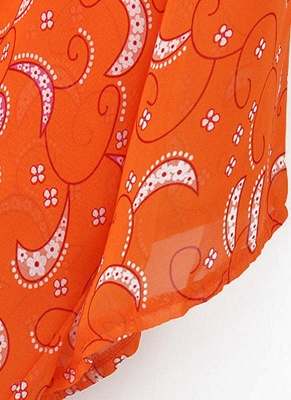 Women Cardigan Open Front Contrast Print Half Sleeve Kimono_7