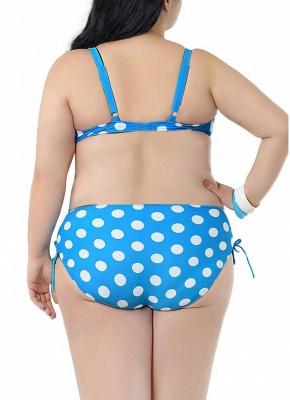 Plus Size Polka Dot Knot Sexy Bikini Set_8