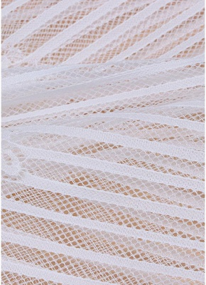 white one size Sheer Lace Tassel Kaftan Beach Cover Up_7