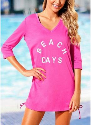 Women Beach Sexy Bikini Cover Up Tie Side Summer Dress Casual Swimwear_1